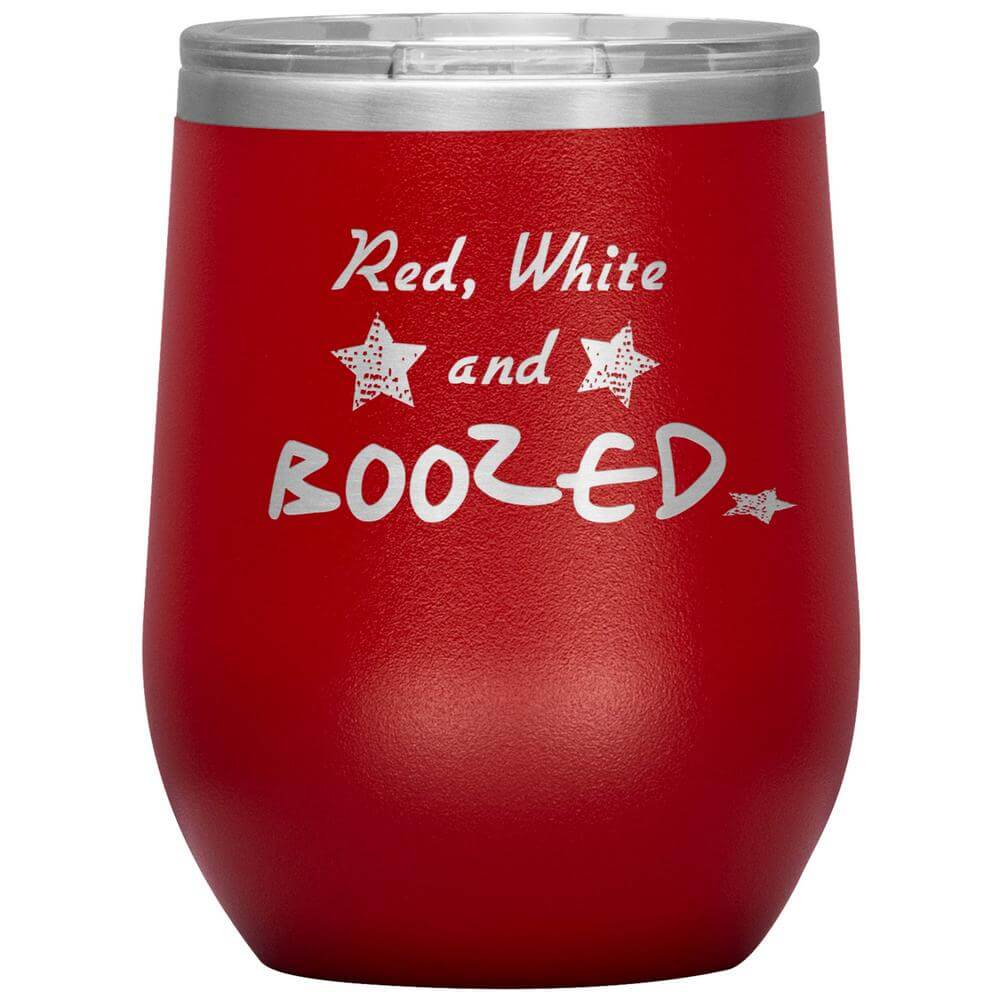 4th of July Wine Tumbler