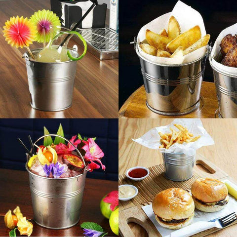 Small metal buckets for crafts