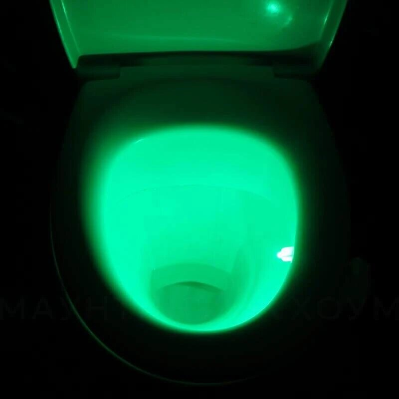 Toilet bowl light up
