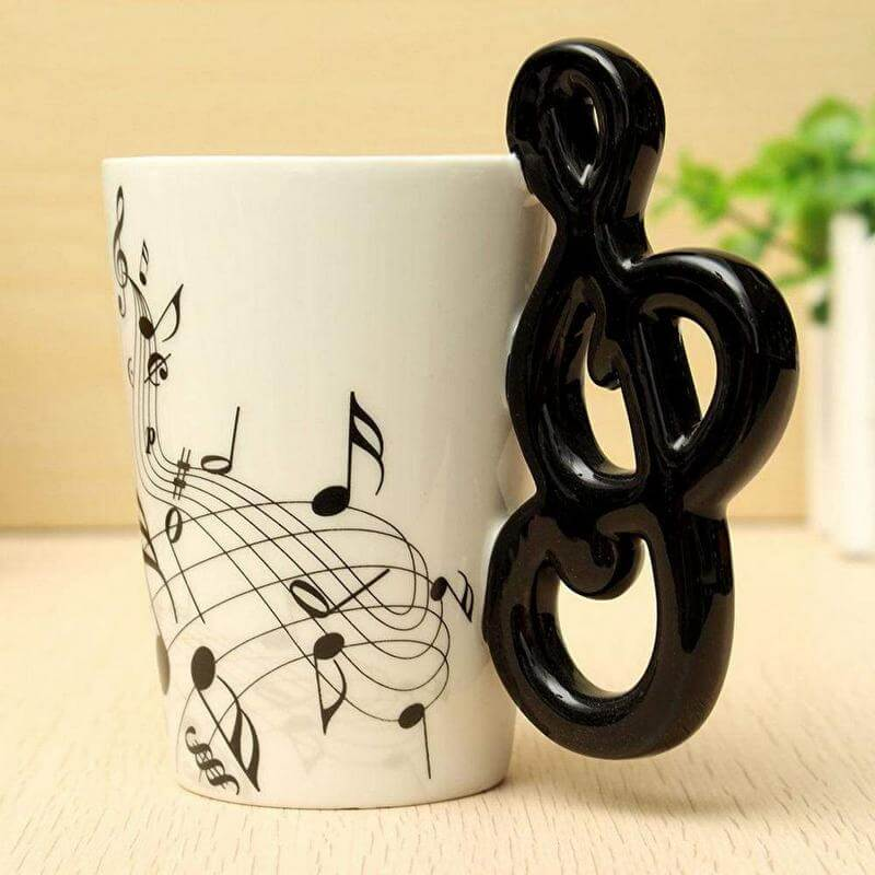 Gifts for a Music Teacher - Treble Clef Mug