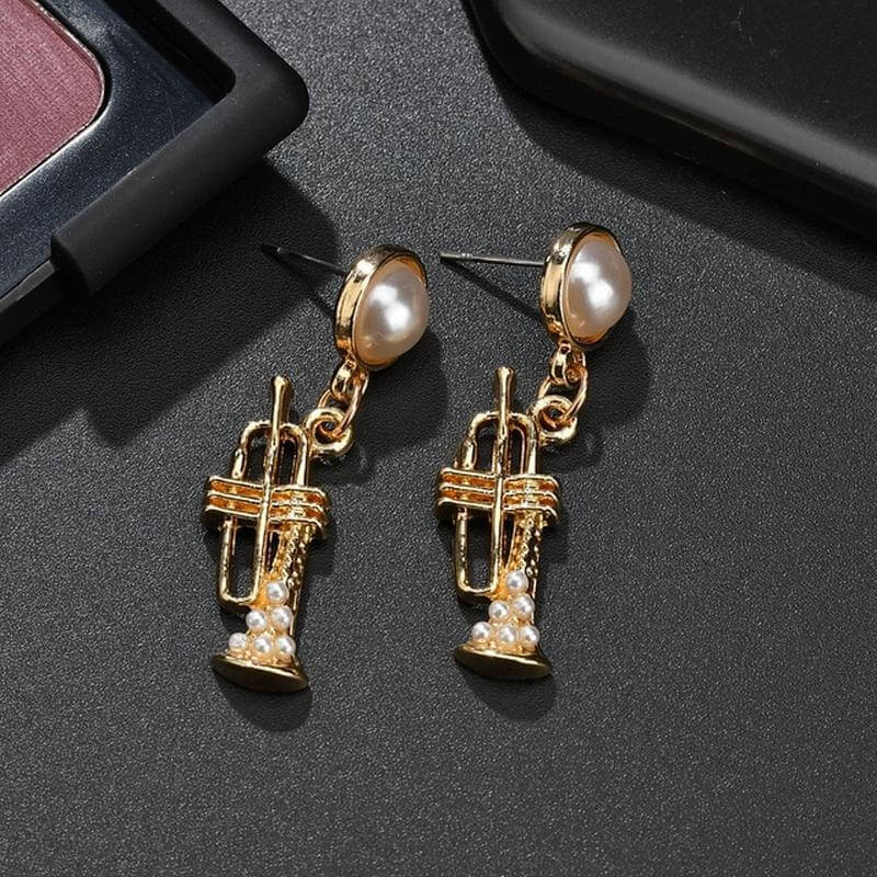 Trumpet earrings - Gifts for trumpet players