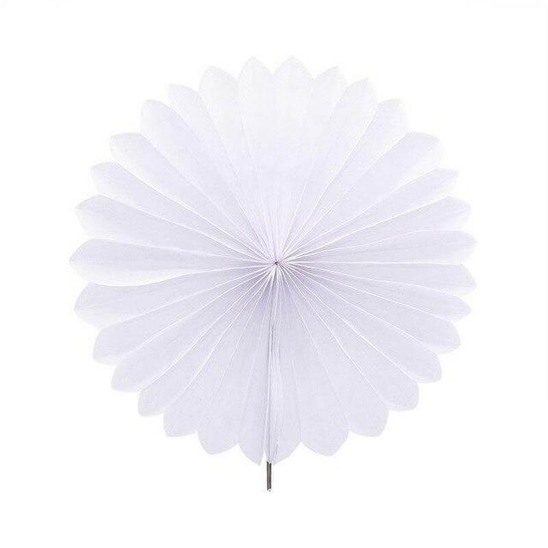 White Tissue Paper Fan