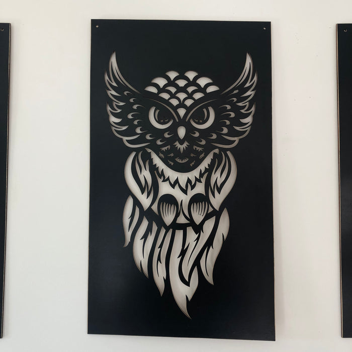 Owl cut out wall decor - Younique Collective