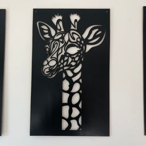 Giraffe cut out wall decor - younique-collective