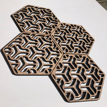Load image into Gallery viewer, Hexagon geometric coasters - boomerang - Younique Collective