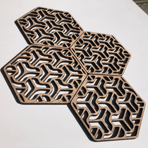 Hexagon geometric coasters - boomerang - Younique Collective