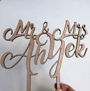 YES we make custom cake toppers - Younique Collective
