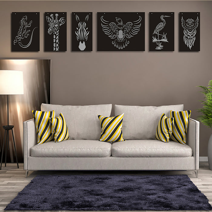 Zebra cut out wall decor - Younique Collective