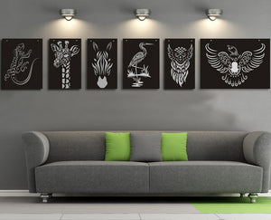 Lizard cut out wall decor - Younique Collective