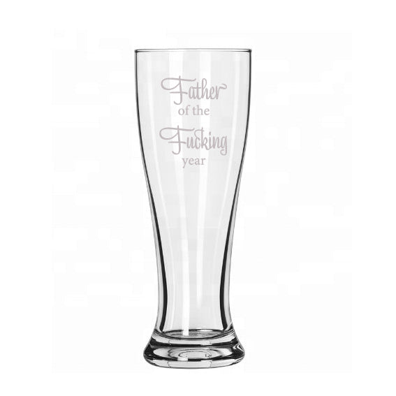 Father of the Fucking Year beer glass - Younique Collective