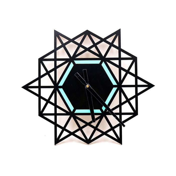 Black Triangle Geometric Clock - Younique Collective