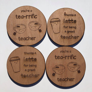 Teacher gift coasters - Younique Collective