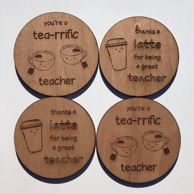 Thanks a Latte Teacher Coaster - Younique Collective