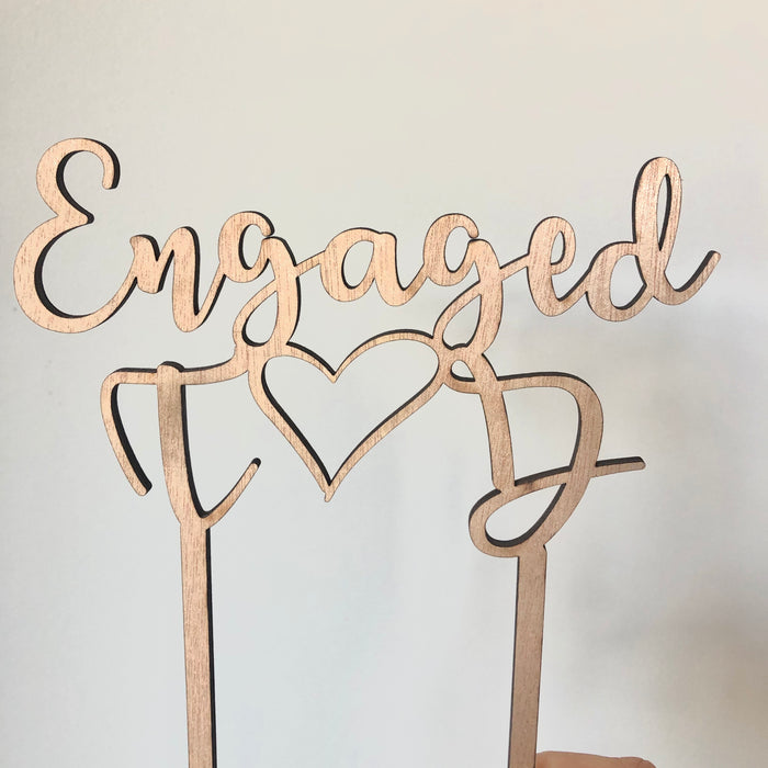 Engaged initials topper - Younique Collective