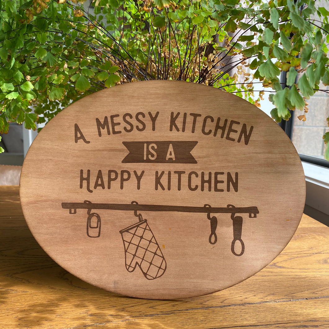 A messy kitchen is a happy kitchen
