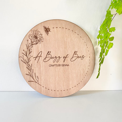 Wooden engraved flat lays 200mm