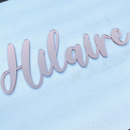Mirror acrylic name plaque - S