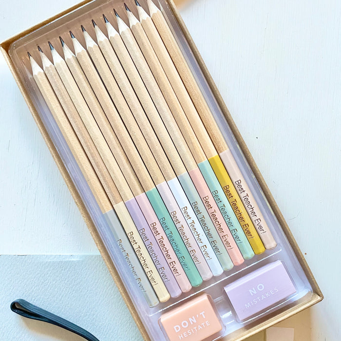 Engraved pencils set