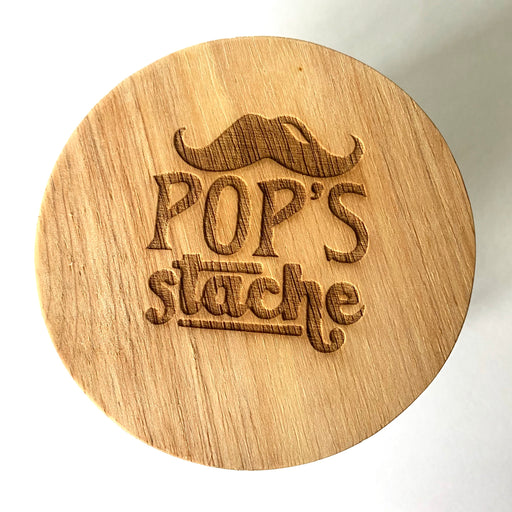 Pop's stache jar
