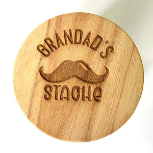 Dad's stache jar