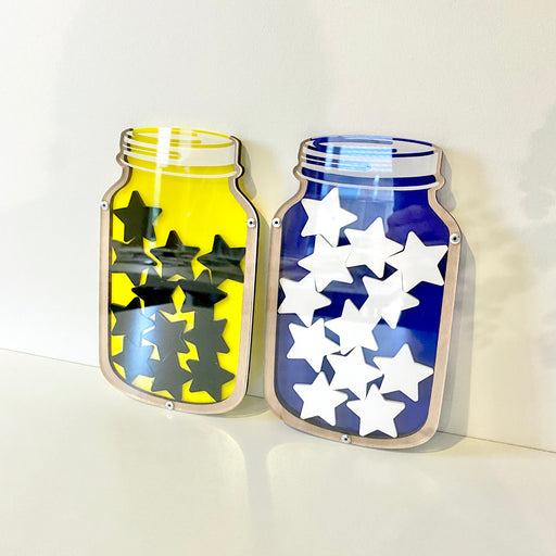 Reward jars in acrylic