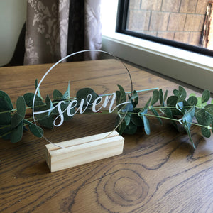 Clear Acrylic Table Number - Round - Younique Collective