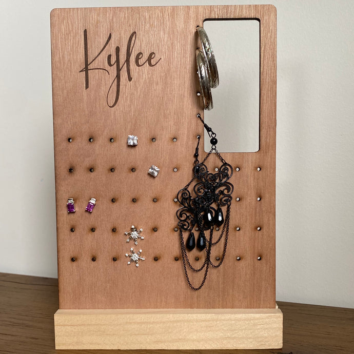Earring holder - Name