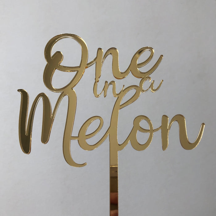 One in a Melon cake topper - Younique Collective