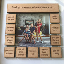 Load image into Gallery viewer, Daddy, reasons why tile frame - Younique Collective