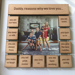 Daddy, reasons why tile frame - younique-collective