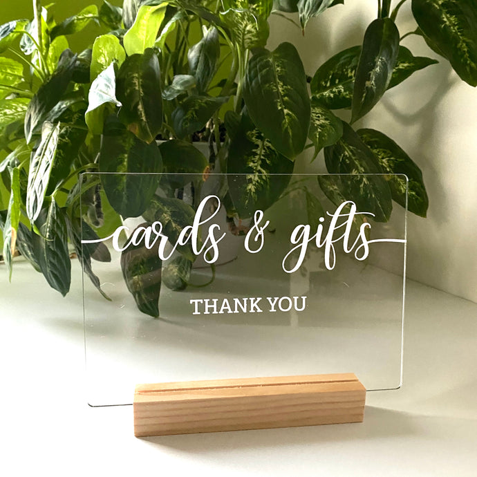 Gifts and cards sign A5