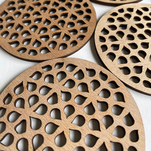 Geometric coasters - teardrop
