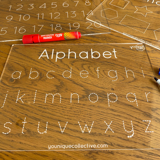 Alphabet trace and learn boards set - Younique Collective
