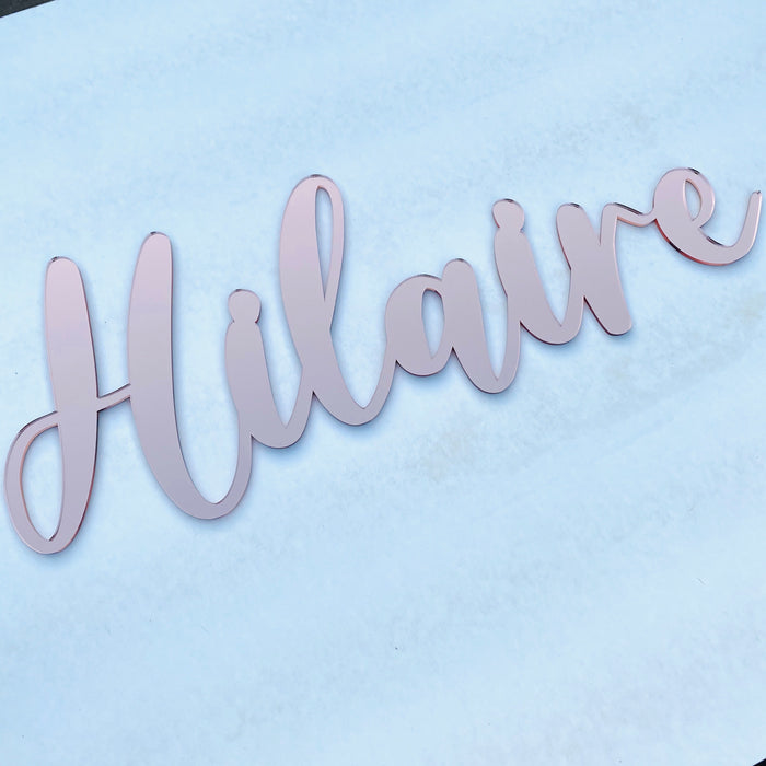 Mirror acrylic name plaque - XL
