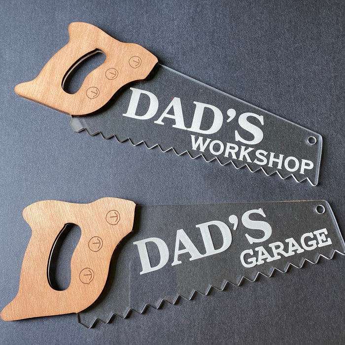 Dad's garage/shed/workshop saw sign - Younique Collective