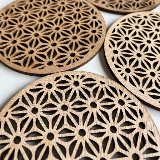 Geometric coasters - flower - Younique Collective