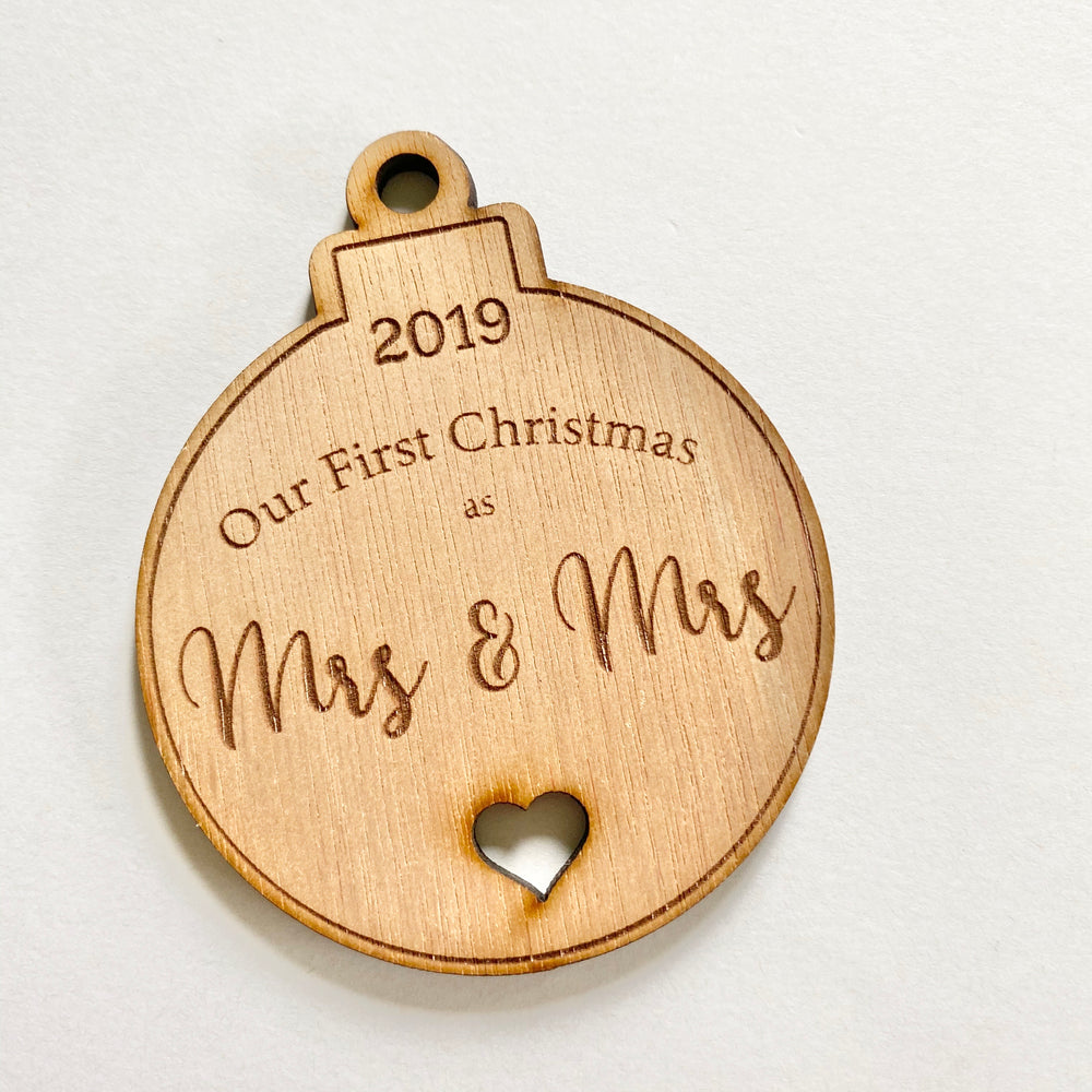 Our first Christmas Mrs & Mrs