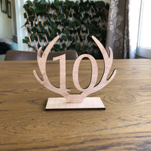 Load image into Gallery viewer, Rustic Antler Table Numbers