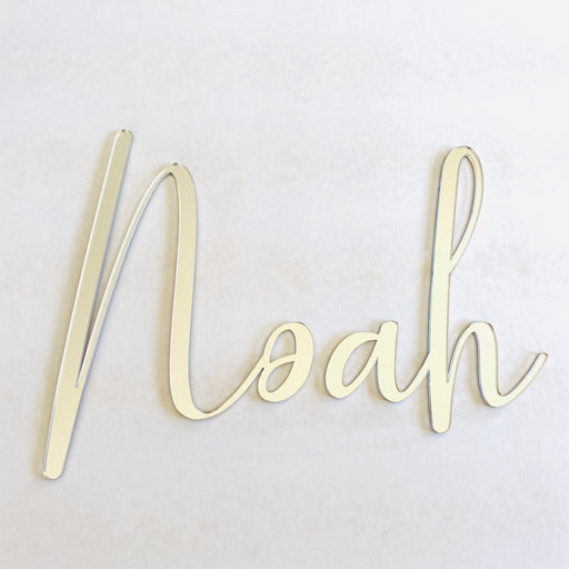 Mirror acrylic name plaque - L