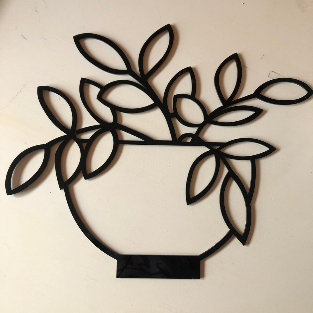 Philodendron wall decor