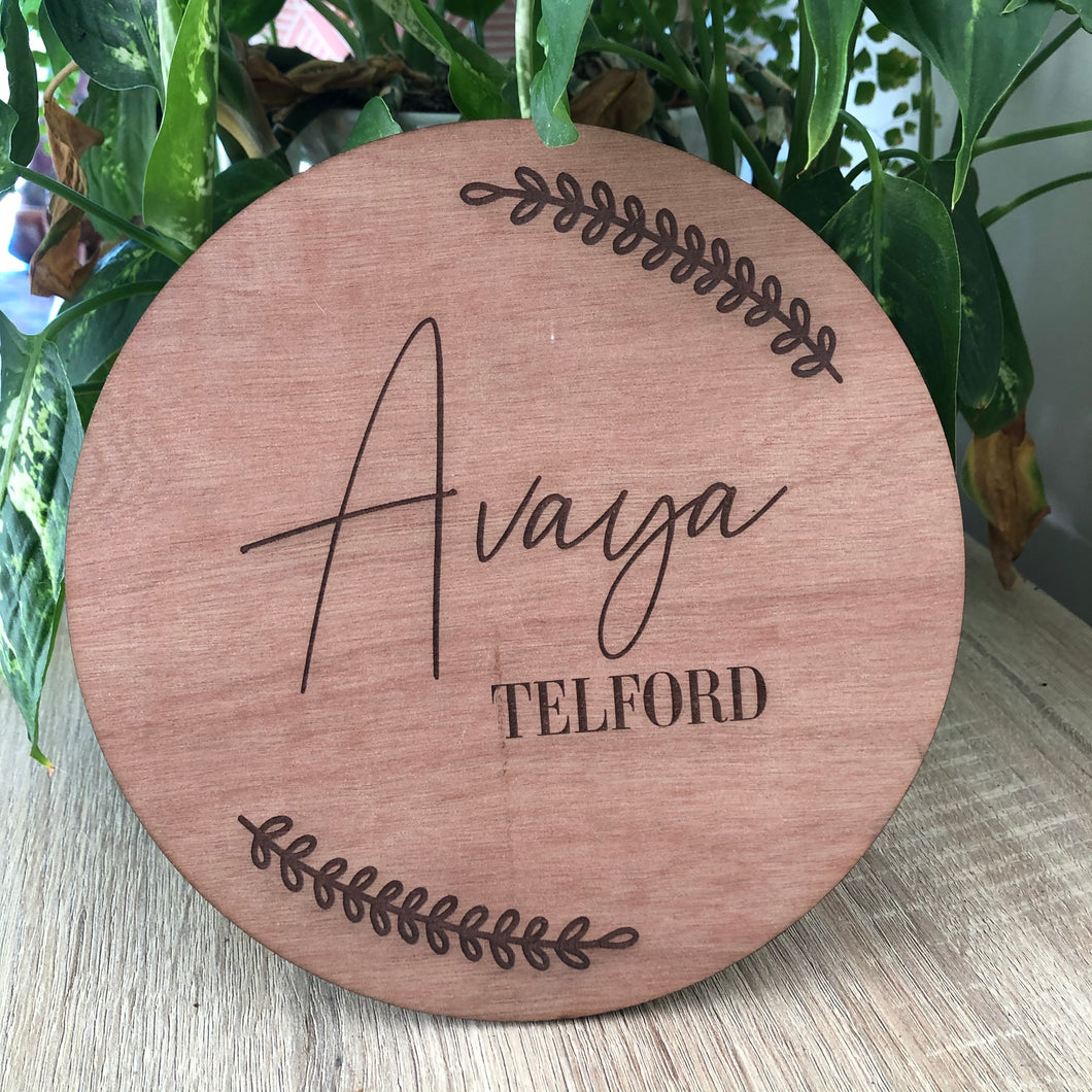 Round name plaques