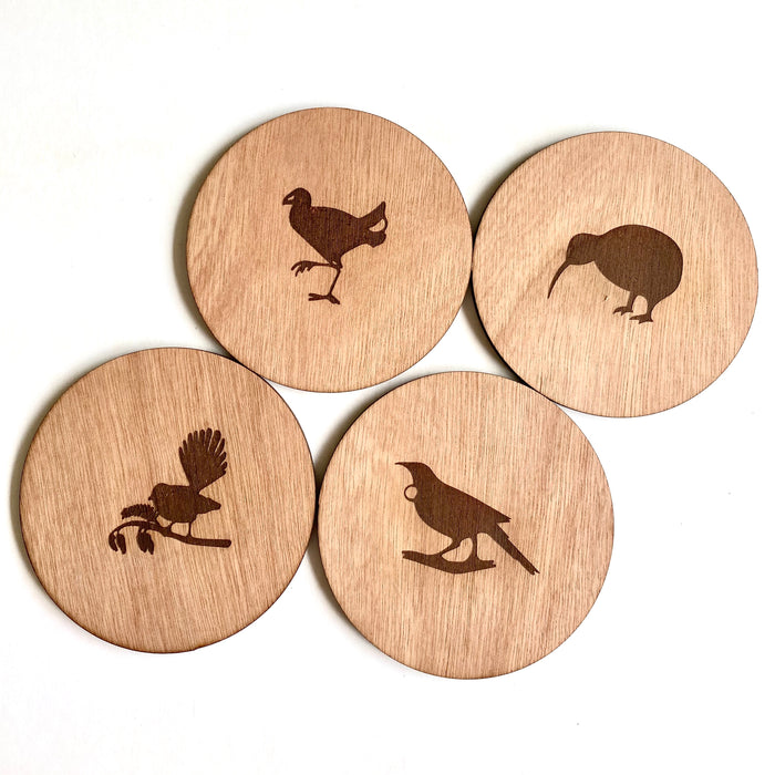 Birds of New Zealand coasters - Younique Collective