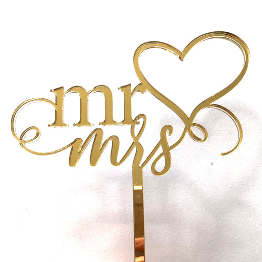 Mr & Mrs cake topper - Younique Collective