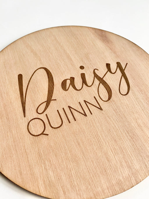Nursery name plaque 200mm - Younique Collective