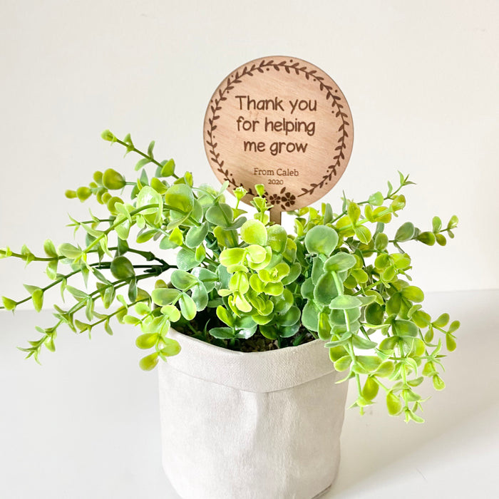 Thank you planter stake flower