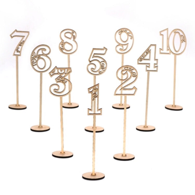 Table numbers 1-20 set - Younique Collective