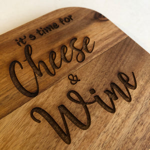 It's time for cheese and wine
