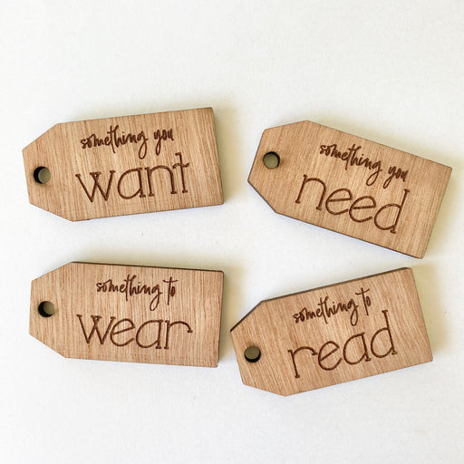 Want, need, wear, read tags