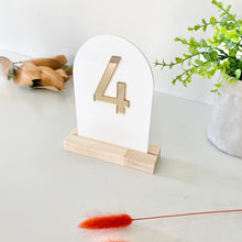 Load image into Gallery viewer, Black Acrylic Table Numbers