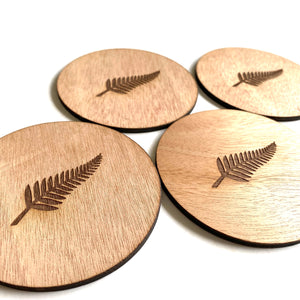 New Zealand Fern coasters - Younique Collective